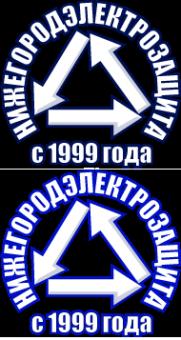 Логотип компании Нижегородэлектрозащита